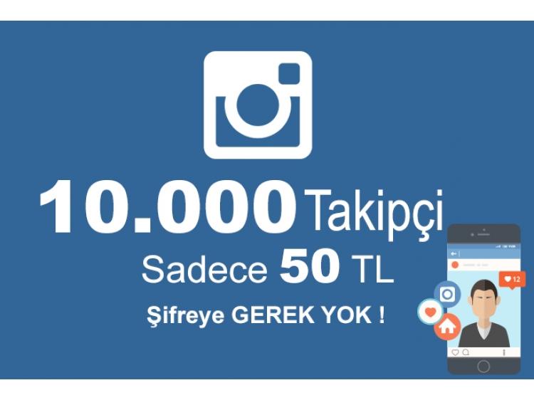 10K Türk İnstagram Takipçi Sadece 50 TL